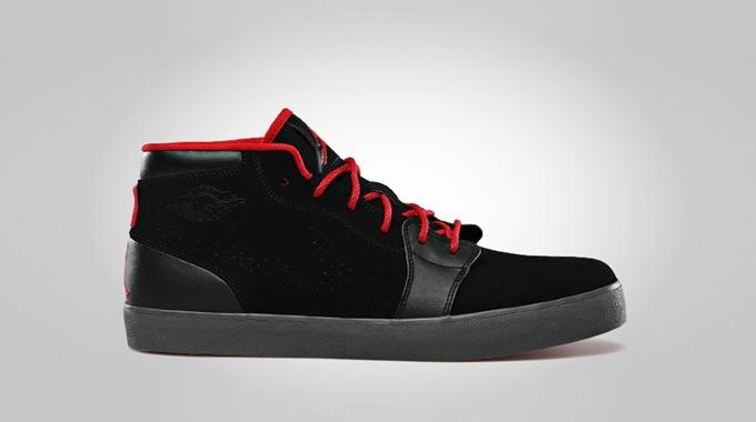 AJ V.1 Chukka Black Gym Red Dark Grey
