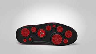 Jordan Flight Luminary Black Gym Red White sole