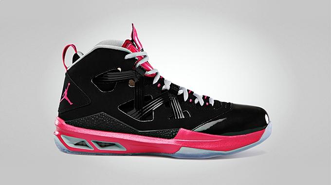 Jordan Melo M9 Black Vivid Pink Wolf Grey