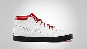 AJ V.1 Chukka White Black Gym Red