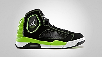 Jordan Flight Luminary Black White Electric Green
