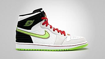 Air Jordan 1 Retro 93 White Electric Green Black Neutral Grey Gym Red