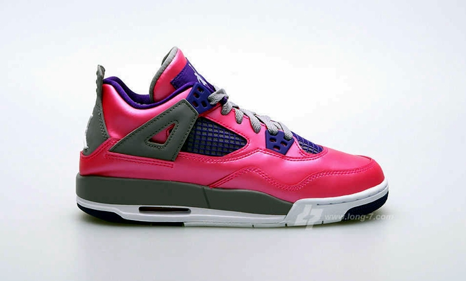 Air Jordan 4 Retro Girls Pink/Purple-Grey