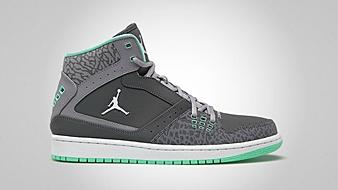 Jordan 1 Flight Dark Grey Green Glow Cement Grey
