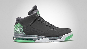 Jordan Flight Origin Dark Grey White Cement Grey Green Glow