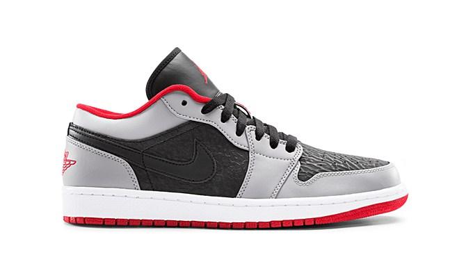 air jordan 1 low black gym red cement grey