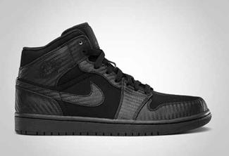 """Air Jordan 1 Phat """"Carbon Fiber"""" Black Coming Out!"""