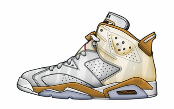 "Check Out the Air Jordan 6 ""Gold Medal"""