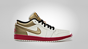Air Jordan 1 Low Sail Sport Fuschia Metallic Gold Black