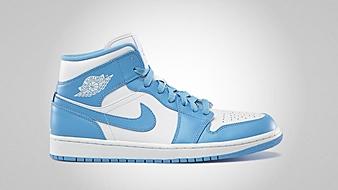 Air Jordan 1 Mid White University Blue White