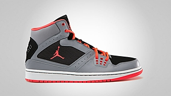 Jordan 1 Flight Stealth Bright Crimson Black - White