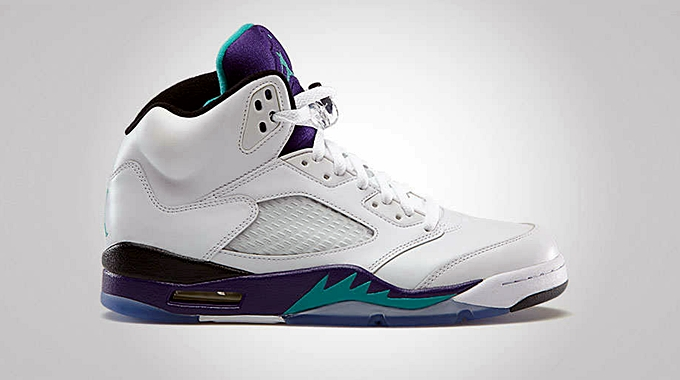 "Air Jordan 5 Retro ""Grape"" Now Out"