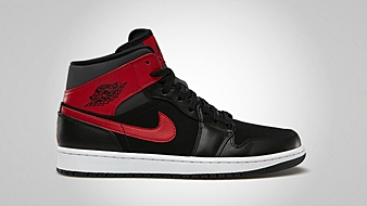 Air Jordan 1 Mid Black Gym Red Anthracite
