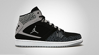 Jordan 1 Flight Black Medium Grey White