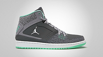 Jordan 1 Flight Dark Grey Green Glow Cement Grey