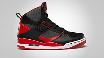 Jordan Flight 45 High Black Fire Red Dark Grey White