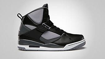 Jordan Flight 45 High Black White Cement Grey Dark Grey