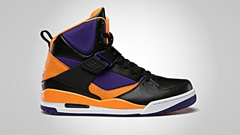 Jordan Flight 45 High Black White Court Purple Bright Citrus