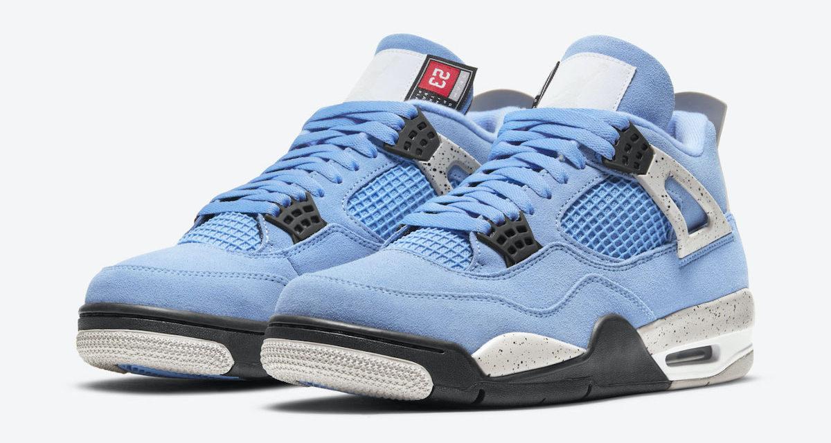 Air Jordan 4 University Blue UNC CT8527-400 Release Date