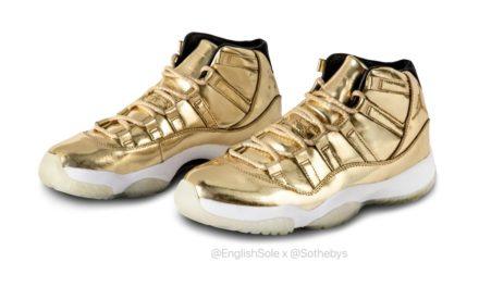 Usher Air Jordan 11 Gold Sample