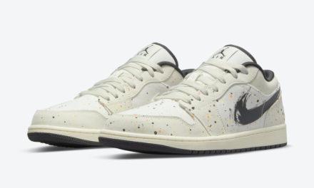 Air Jordan 1 Low Paint Splatter Brushstroke Swoosh