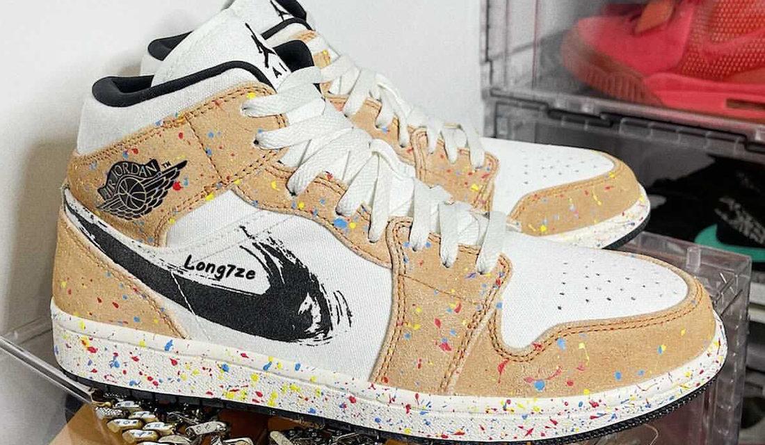 Air Jordan 1 Mid SE Brushstroke Paint Splatter Release Date