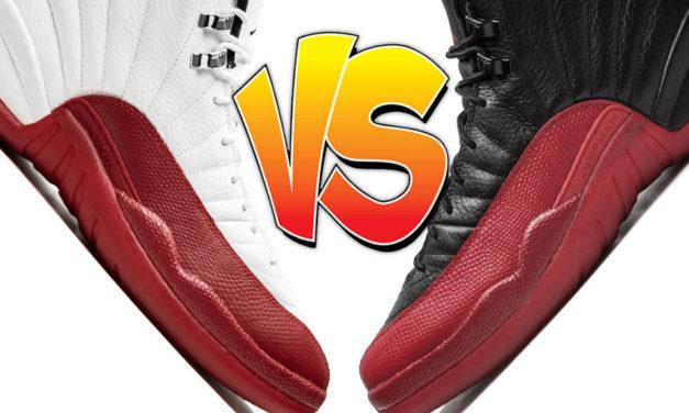 Air Jordan 12 Cherry vs Air Jordan 12 Flu Game