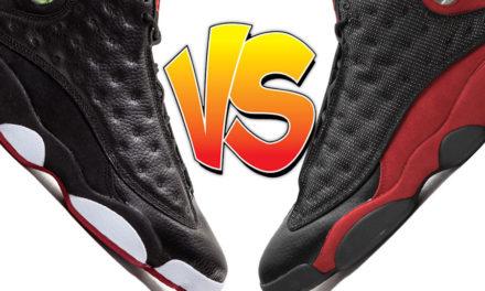 Air Jordan 13 Playoffs vs Air Jordan 13 Bred Comparison