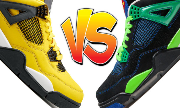 Air Jordan 4 Lightning vs Air Jordan 4 Doernbecher