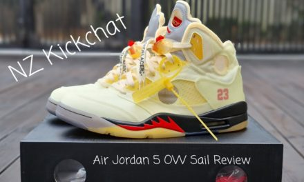 Air Jordan 5 Off White Sail Unboxing and Review