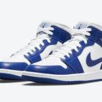 Air Jordan 1 Mid White Blue BQ6472-104 Release Date