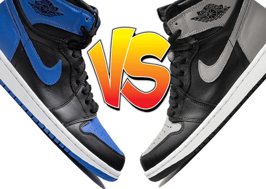 Air Jordan 1 Royal vs Air Jordan 1 Shadow Comparison
