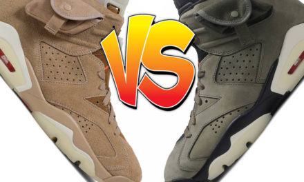 Travis Scott Air Jordan 6 Olive vs Air Jordan 6 British