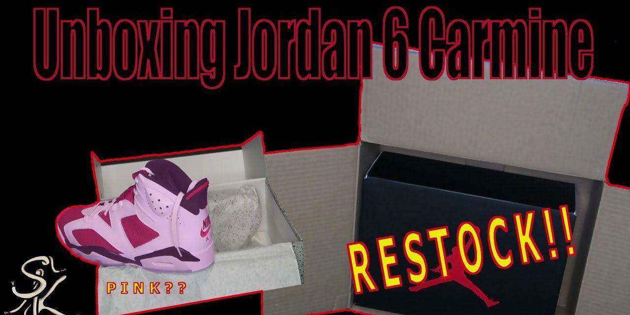 Unboxing Jordan 6 Carmine
