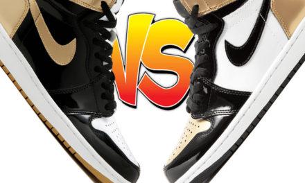 Air Jordan 1 Gold Top 3 vs Air Jordan 1 Gold Toe