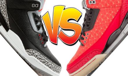 Air Jordan 3 Black Cement vs Air Jordan 3 Doernbecher