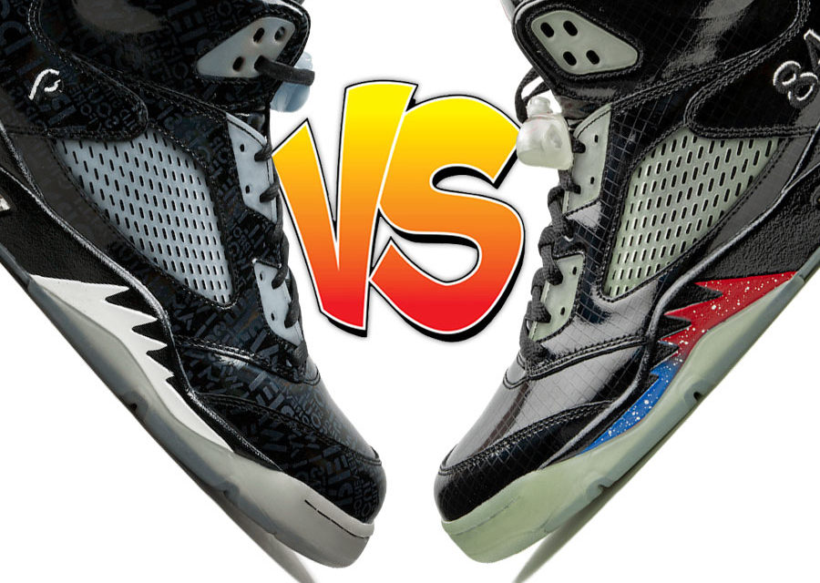 Air Jordan 5 Doernbecher vs Air Jordan 5 Transformers Black