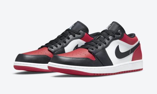 Air Jordan 1 Low Bred Toe 553558-612 Release Date