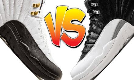 Air Jordan 12 Taxi vs Air Jordan 12 Playoffs Comparison
