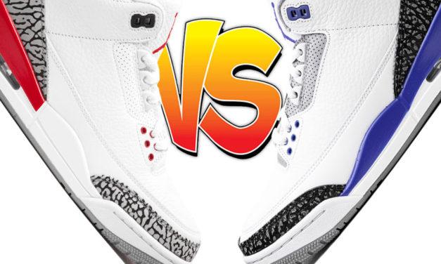 Air Jordan 3 Katrina vs Air Jordan 3 Racer Blue