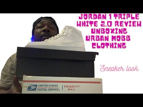 NEW PICKUPS UNBOXING JORDAN 1 TRIPLE WHITE 2.0 & URBAN