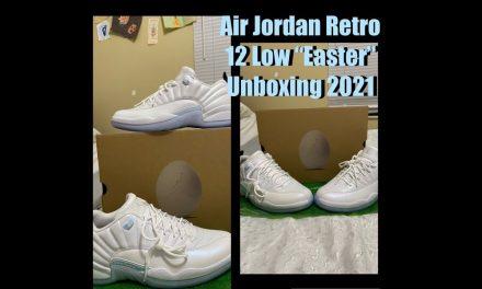"""Air Jordan Retro 12 Low """"Easter"""" Unboxing 2021"""