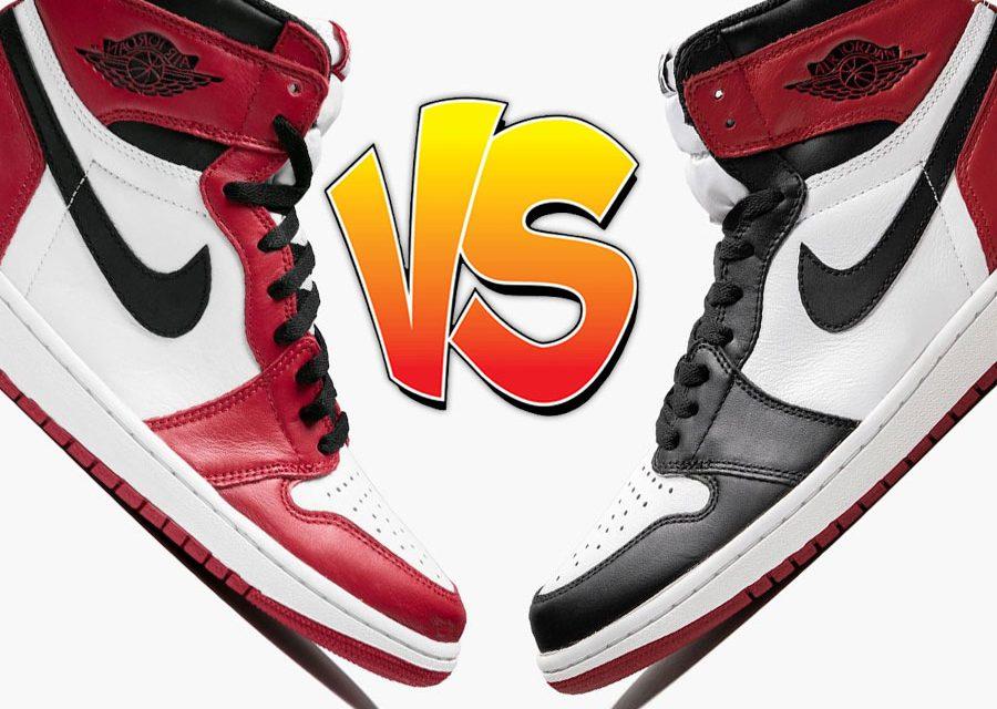 Air Jordan 1 Chicago vs Air Jordan 1 Black Toe Comparison