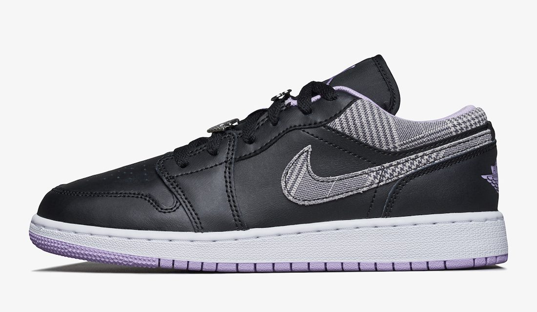 Air Jordan 1 Low SE GS Houndstooth DH0570-015 Release Date