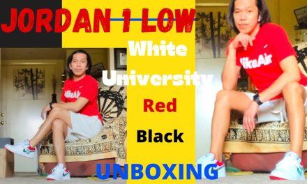 JORDAN 1 Low University Red Black // Unboxing @Nike