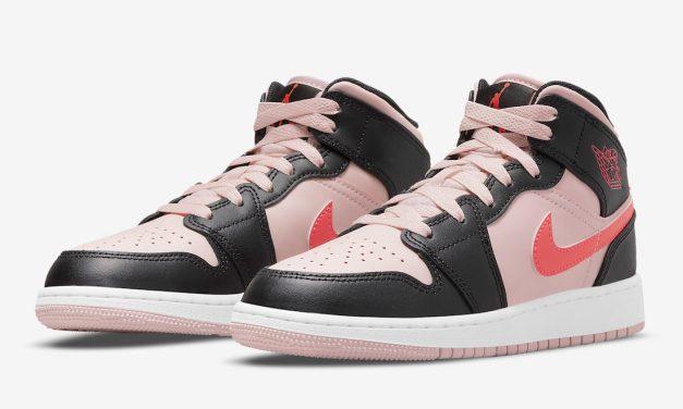 Air Jordan 1 Mid GS Pink Crimson 554725-604 Release Date